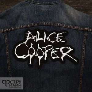 Details about Big Back patch Alice Cooper Hard rock heavy metal logo band..