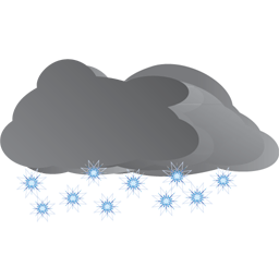 Heavy Snow Icon, PNG ClipArt Image.