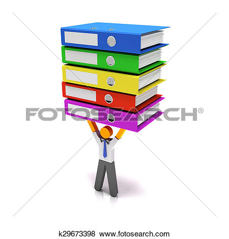 Stock Illustration of Heavy workload k29673398.