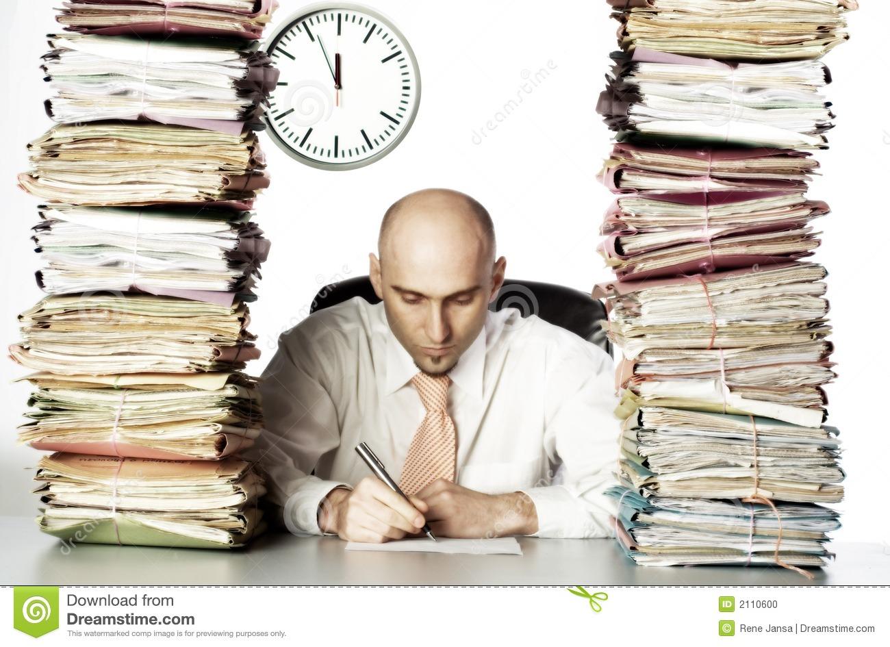 Heavy Workload Stock Photo.