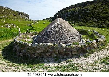 Stock Photography of Iron Age village nearby Bostadh Beach. Great.