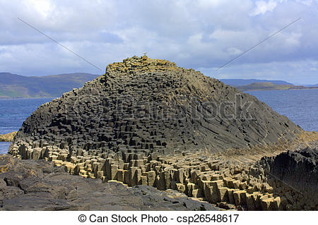 Stock Photography of Staffa, an island of the Inner Hebrides in.