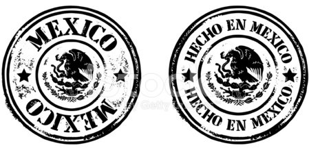 Stamps Hecho En Mexico stock vectors and illustrations.