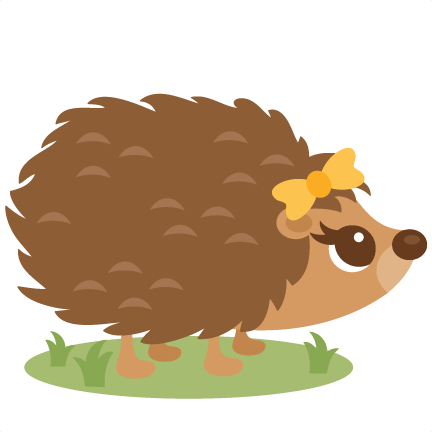 Cute Hedgehog Clip Art.