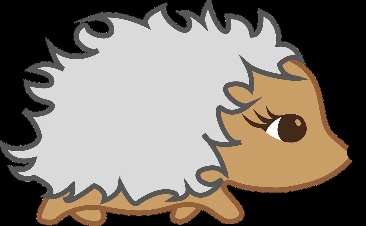 Cartoon Hedgehog Clipart.