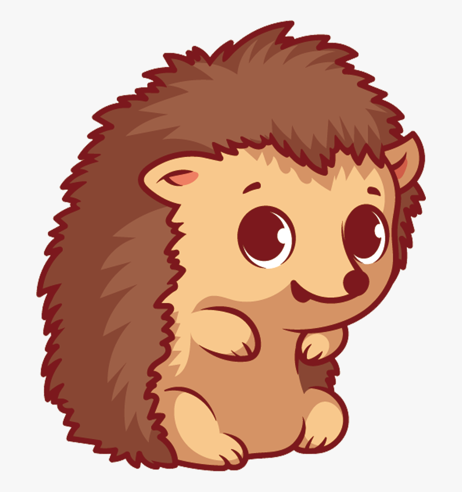 Cute Hedgehog Clipart.