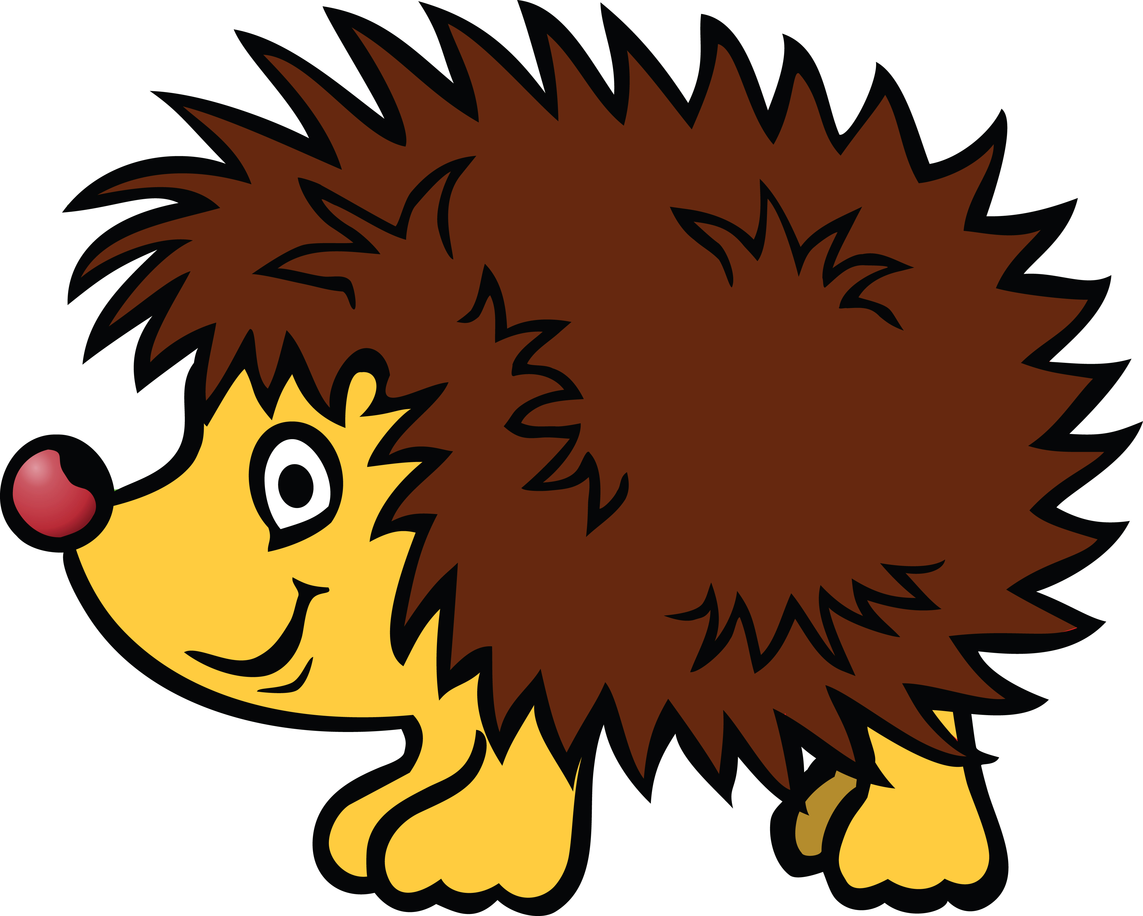 Free Clipart Of A hedgehog.