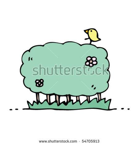 Hedgerow Cartoon Stock Vector 54700420.