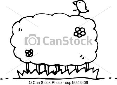 Vector Clipart of cartoon hedgerow csp15548406.