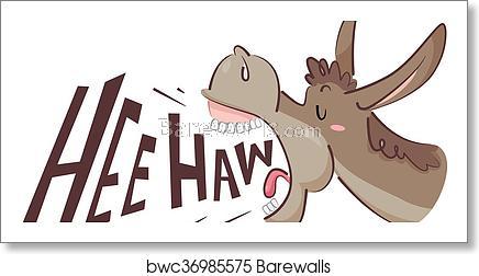 Donkey Hee Haw art print poster.