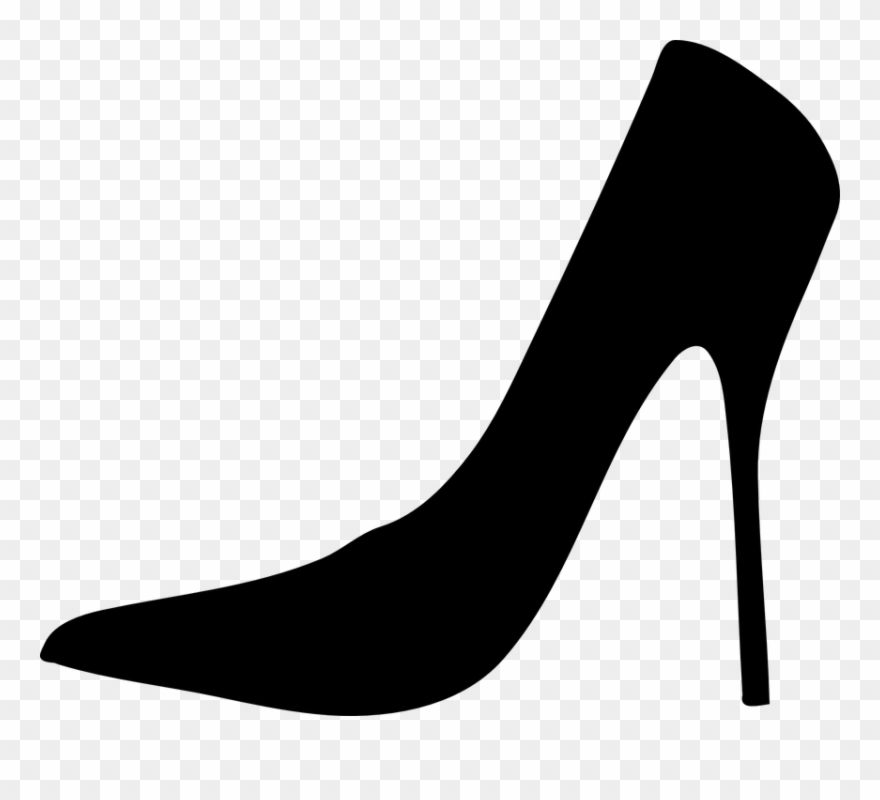 Heels Clipart Black And White.