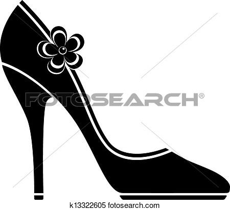 High heel shoes clip art.