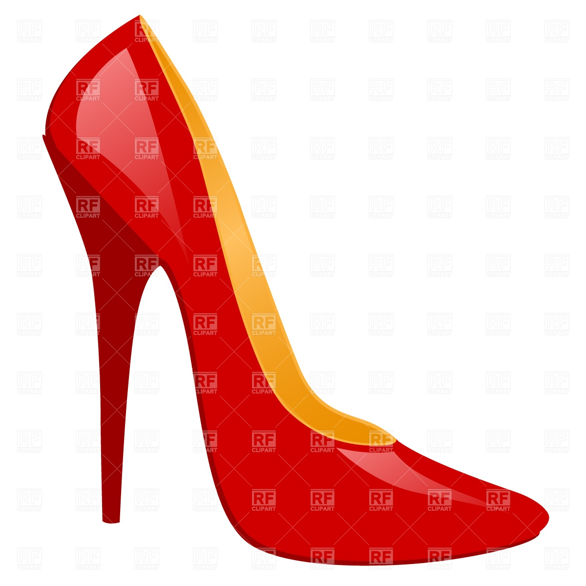 High heels shoes clipart.