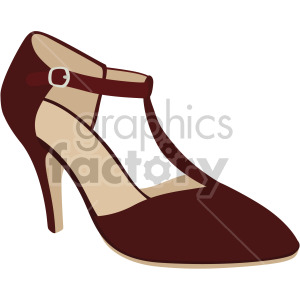 t bar heels shoes clipart. Royalty.