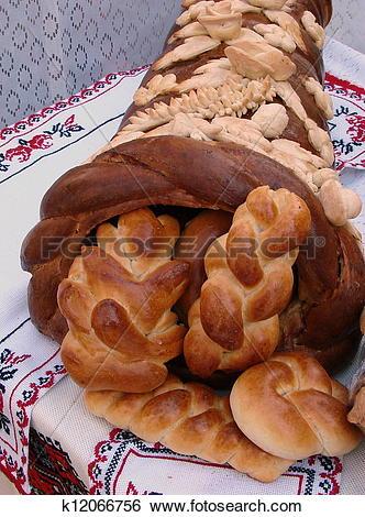 Stock Images of Ukrainian festive Bread Horn of Plenty k12066756.