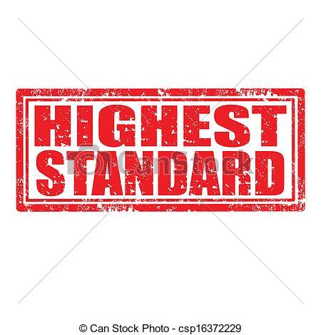Vector Illustration of Highest Standard.