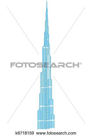 Clip Art of Burj Khalifa Tower.