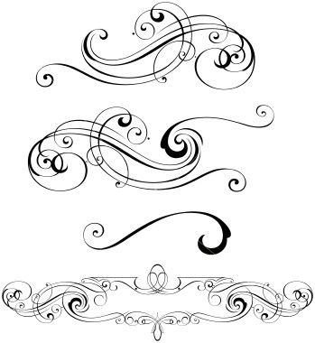 word clip art wedding embellishments.