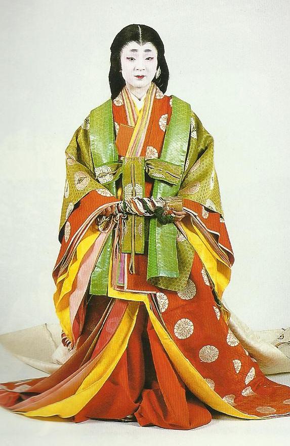Heian court woman clipart.