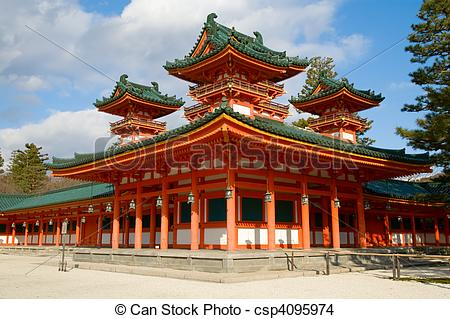 Stock Photo of Heian Shrine.