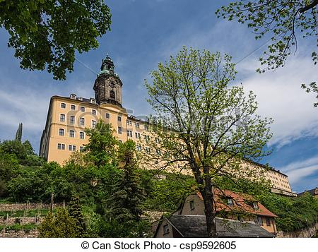 Stock Images of The baroque Castle Heidecksburg in Rudolstadt.