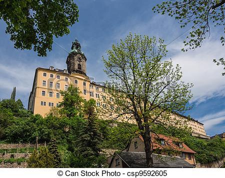 Stock Images of The baroque Castle Heidecksburg in Rudolstadt.
