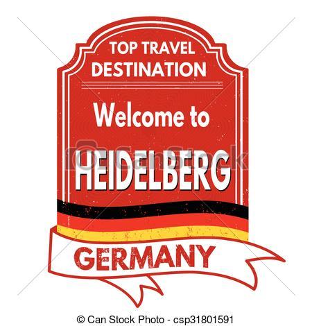 EPS Vectors of Welcome to Heidelberg stamp.