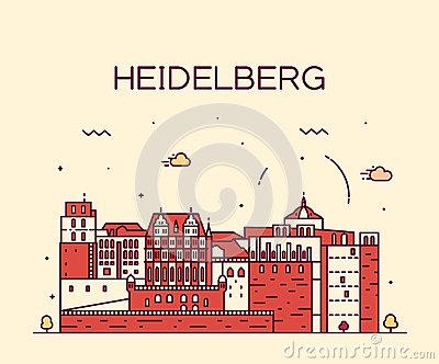 View Heidelberg Castle Gardens Stock Illustrations.