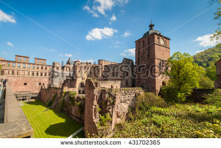 Heidelberg Castle Stock Images, Royalty.