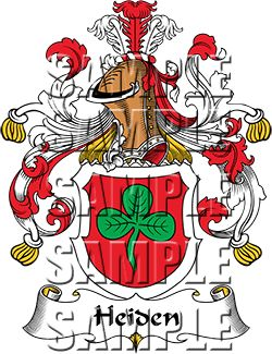 Heiden Family Crest apparel, Heiden Coat of Arms gifts.