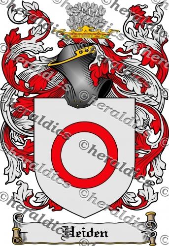 Heiden Coat of Arms Heiden Family Crest Instant Download.