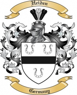 Heiden Family Crest from Germany2 by The Tree Maker.