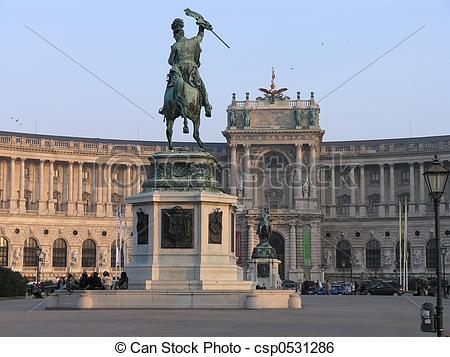 Stock Image of Heldenplatz Vienna.