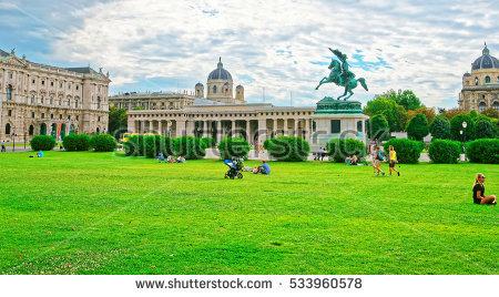 Heldenplatz Stock Photos, Royalty.