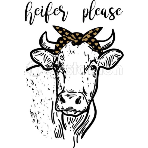 Heifer Please, Cow, Heifer, Ladies,Women, Cow Bandanna Thong.