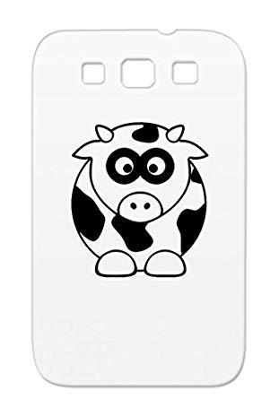 Amazon.com: TPU Black Cow Clipart Customize Irony Design.