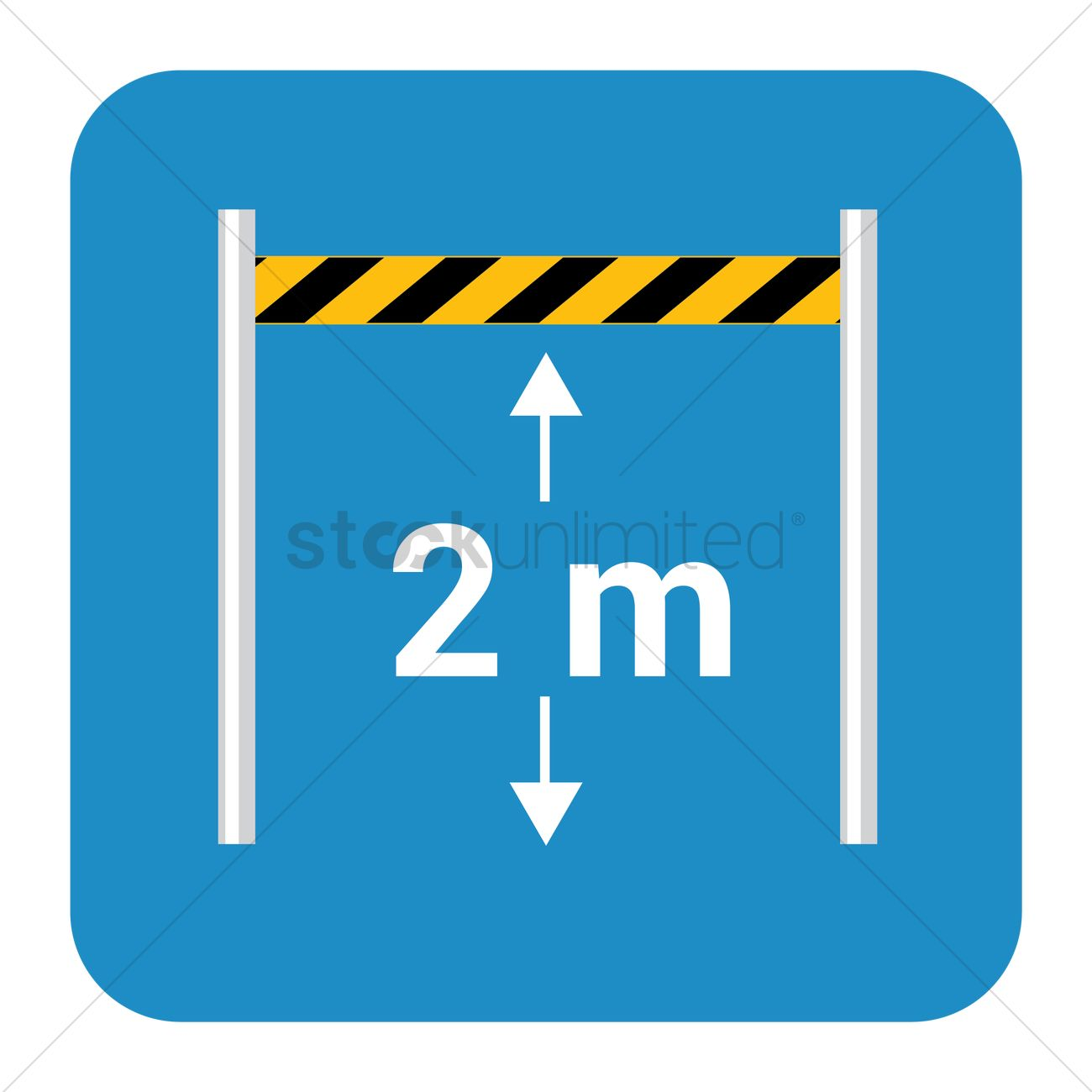 Vehicles height limit board Vector Image.