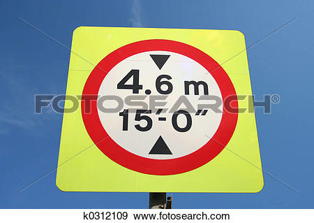 Stock Photograph of Height Limit sign k0312109.