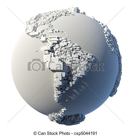 Clipart of Cubic structure of the planet Earth.