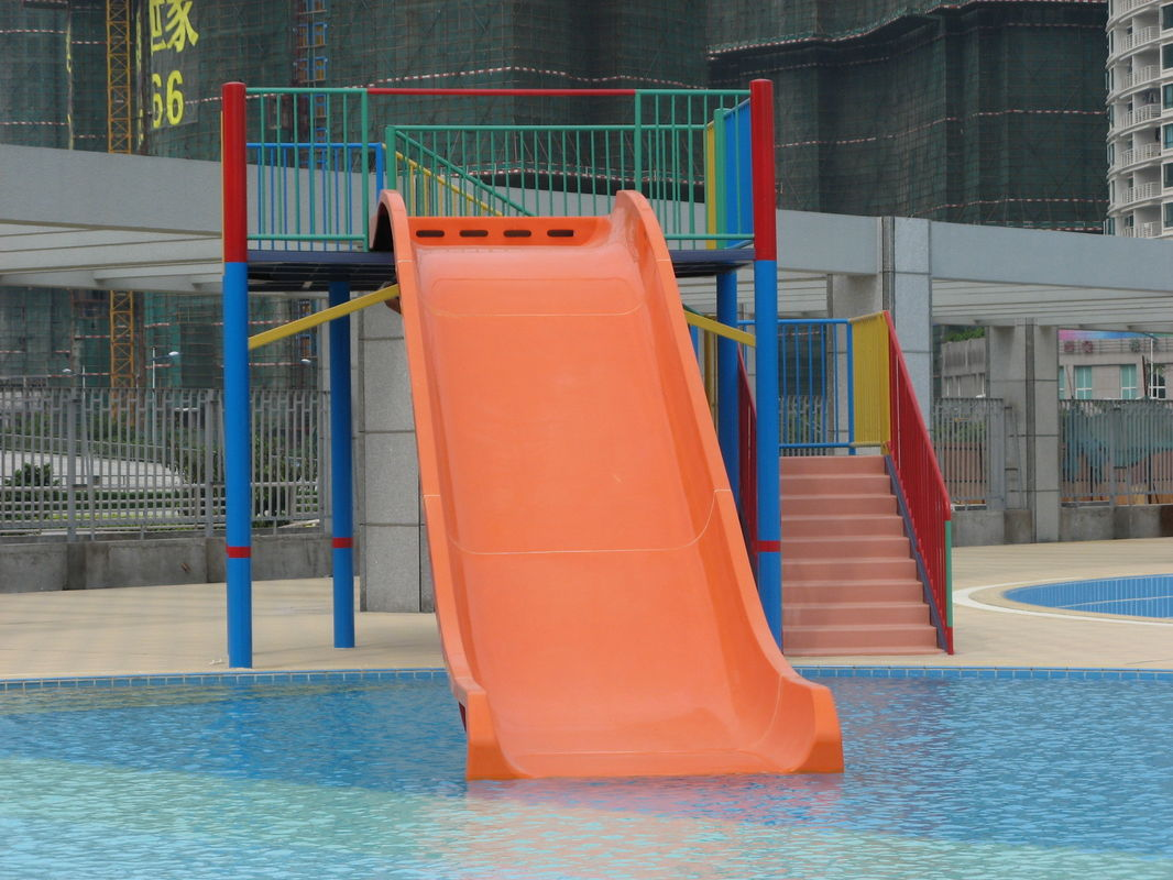Fiberglass Kids' Wide Slide, 5.0m Height Water Park Slides For Pools.