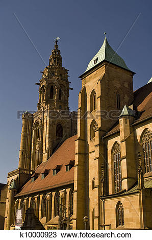 Stock Photo of Church of Saint Kilian in Heilbronn, Germany.
