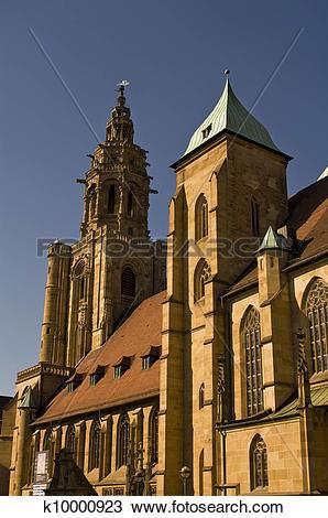 Stock Photo of Church of Saint Kilian in Heilbronn, Germany.