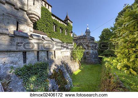"""Stock Photo of """"Schloss Lichtenstein Castle, Honau, Baden."""