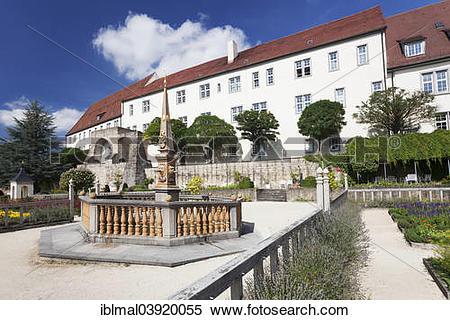 """Stock Image of """"Pomeranzengarten garden at Schloss Leonberg castle."""