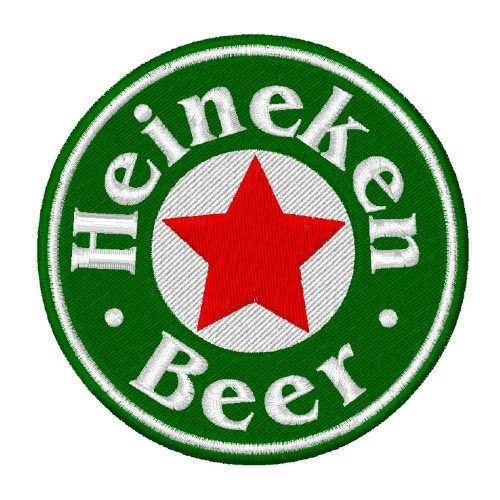 EMBROIDERED PATCH HEINEKEN BEER D=8CM (D=3.1 inch).