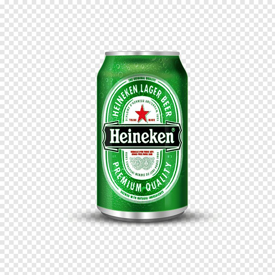 Green Heineken beer can, Beer bottle Heineken International.