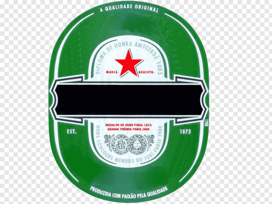 Heineken logo, Beer Heineken Botequim Paper Label, heineken.