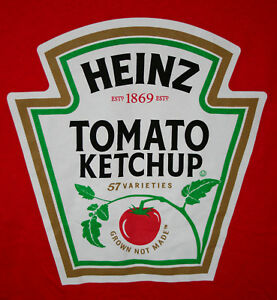 Details about Red Heinz Tomato Ketchup Grown Not Made Advertising T.