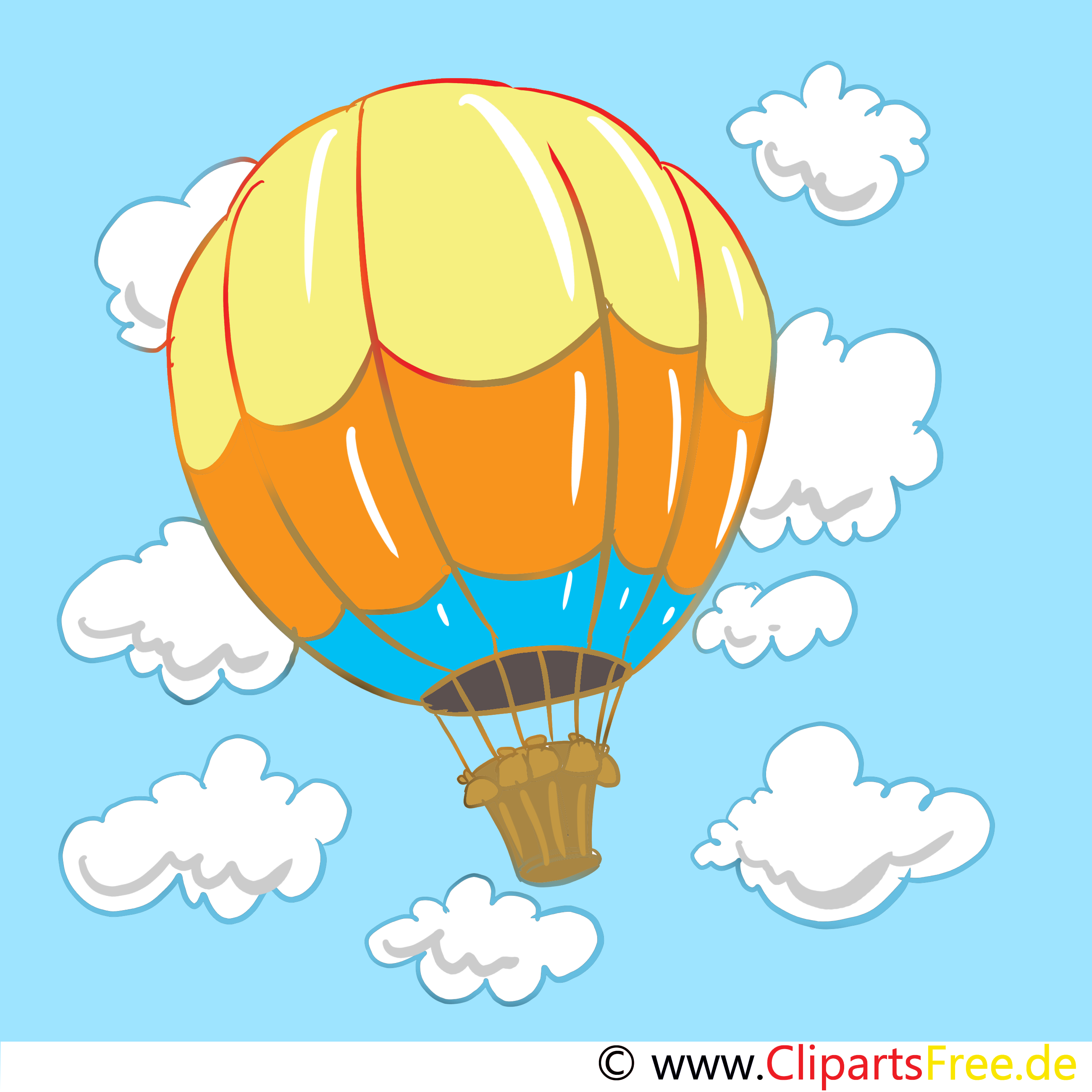 Heißluftballon Image, Clip Art, Cartoon, Bild.