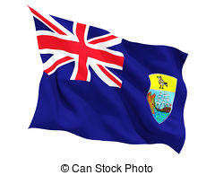 Waving flag of saint helena Clipart and Stock Illustrations. 26.